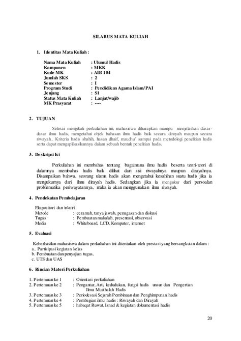 Pengantar Ulumul Quran Rosihon Anwar Buku Agama Islam B62 kurikulum dan silabus jurusan pai tahun 20131