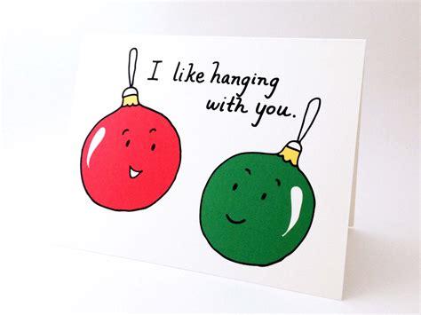 cute  friend christmas card punny holiday love card