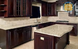Granite Countertops With Cherry Cabinets Giallo Ornamental Granite With Cherry Cabinets Indelink