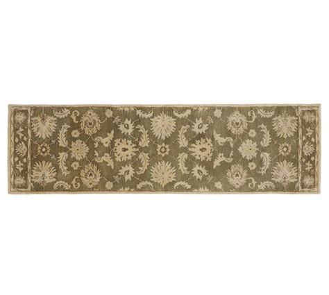 Gabrielle Persian Style Rug Green Pottery Barn Pottery Barn Gabrielle Rug