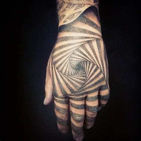hypnotic tattoo 30 hypnotizing optical illusion tattoos amazing ideas