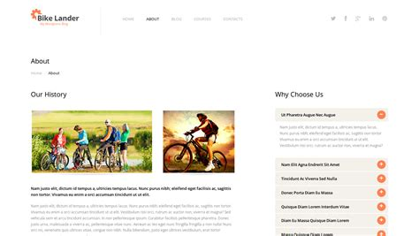 the biking wordpress theme by templatemonster inmotion