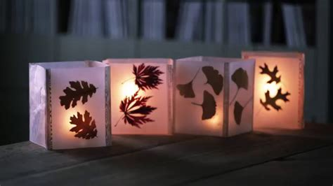 How To Make Wax Paper Leaves - cheap fall craft idea how to make leaf lanterns with wax