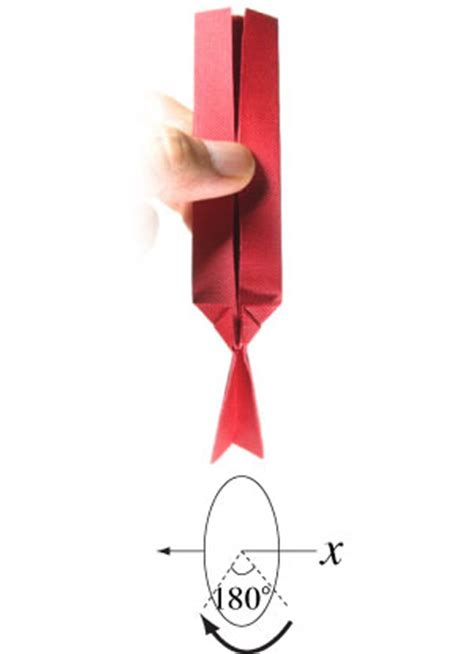 Necktie Origami - how to make an origami necktie page 7