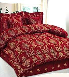 King Size Bedding Burgundy 7pc Luxury Burgundy King Size Jacquard