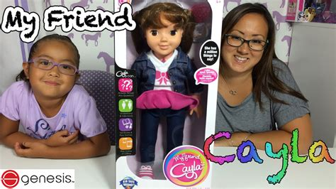 my friend cayla us version my friend cayla interactive doll review with gameplay