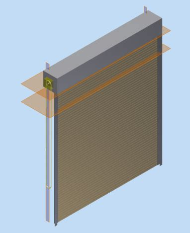 Overhead Roll Up Doors Overhead Roll Up Door Stl Step Iges 3d Cad Model Grabcad