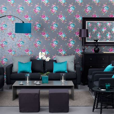 Teal Wallpaper For Living Room sophisticated teal living room living room wallpaper