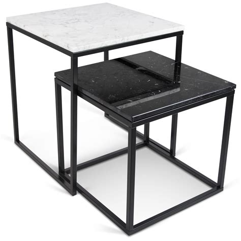 marble top nesting tables prairie white marble top nesting tables from tema home