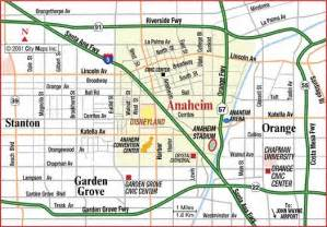 anaheim california map road map of anaheim disneyland anaheim california