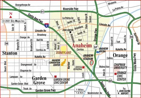 where is anaheim california on the map anaheim california map