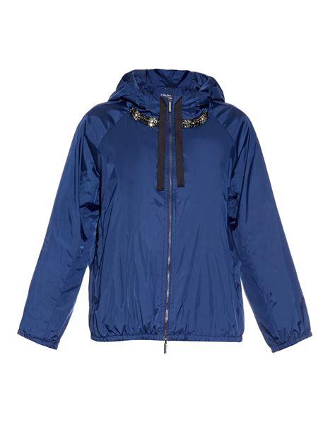 Mara Jacket lyst s max mara h shell jacket in blue