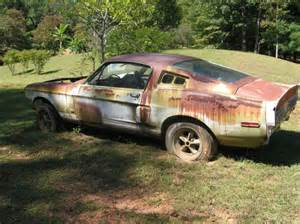 1967 shelby gt 350 junk yard gold ford shelby