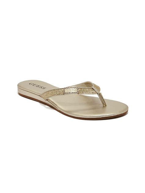 Sandals Flip Flops Guess guess jeweled flip flops jeweled sandals