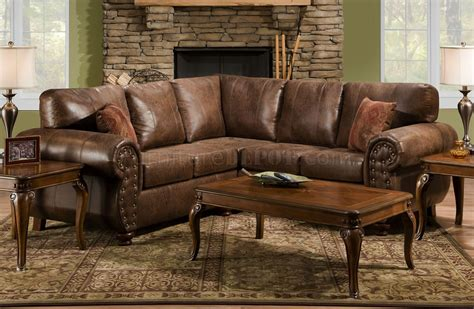 microfiber and leather sofa brown smokey leather like microfiber classic sectional sofa