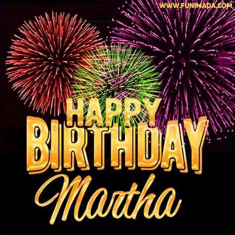 wishing   happy birthday martha  fireworks gif
