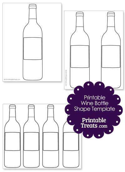 Printable Wine Bottle Shape Template Diy Pinterest Bottle Wine And Digi Sts Wine Bottle Template