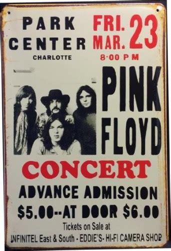Poster Pop Gepetto 20x30cm pink floyd concert center park tin sign pub world