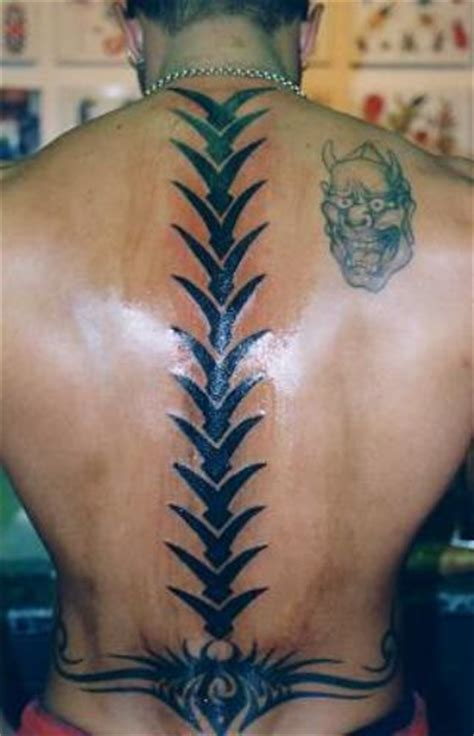 tribal spine tattoo spine images designs
