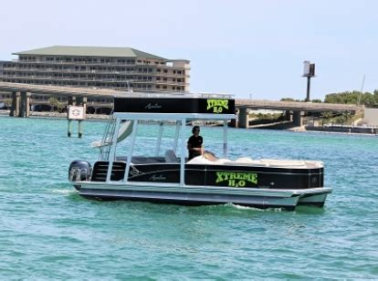 destin x pontoon boat rental destin x double decker pontoon rental departing from