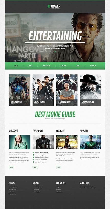 templates for movie website white black movie wordpress theme by amour bootstrap
