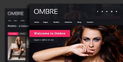 ombre model agency fashion html template by egemenerd
