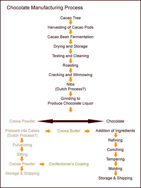 production of chocolate flowchart the flowchart of chocolate process chocolate processing
