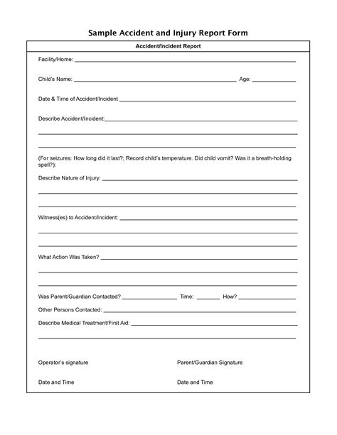 injury incident report form template best photos of injury incident report form injury