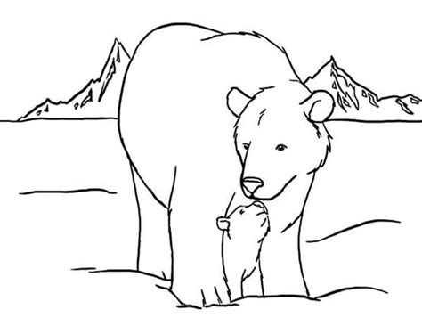 bear den coloring page free coloring pages of to bear in den