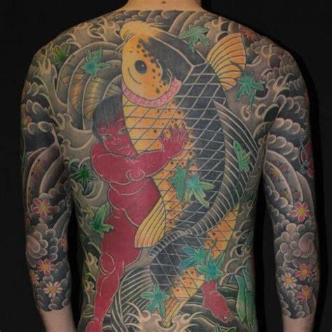 japanese back tattoo koi japanese back carp koi tattoo by elektrik revolver