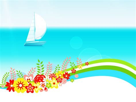 summer powerpoint themes summer powerpoint background summer day with flowers