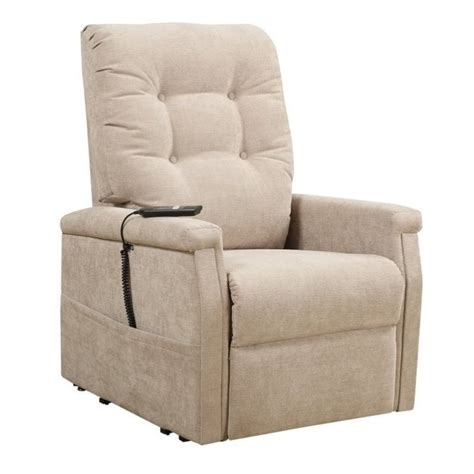 Recliners Montreal by Pri Montreal Fabric Recliner In Beige Ds 1667 016 050