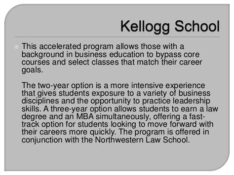 Accelerated Mba Programs Nyu by Kellogg School Offers Fast Track Mba Options