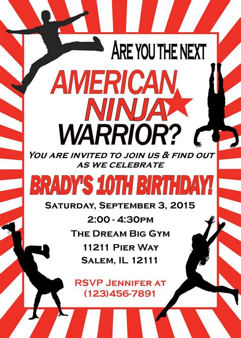 american birthday card template american warrior birthday invitation
