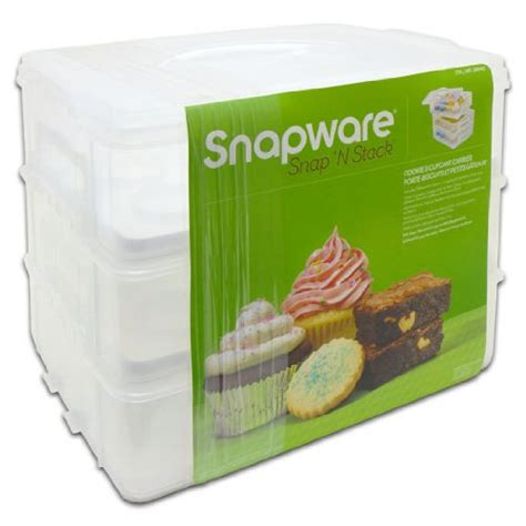 Home Cake Decorating by Snapware Snap N Stack Cookie And Cupcake Carrier 3