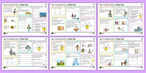 year 2 summer term 2 spag activity mats ks1 key stage 1