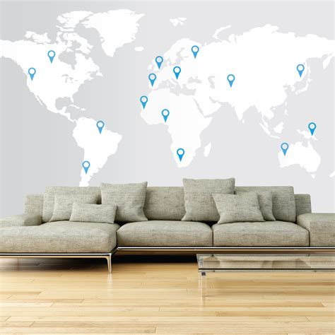 Large World Map Wall Stickers large world map wall decal wallboss wall stickers wall