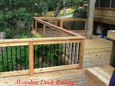 Decking Banister by Deck Idea Porch Railing Wooden Deck Railing Designs