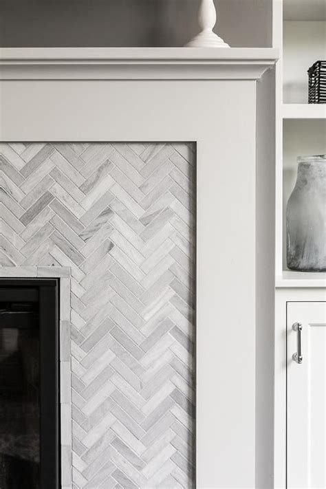 herringbone tile fireplace 25 best ideas about herringbone fireplace on