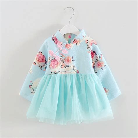 baby girls spring dress chinese style traditional new year