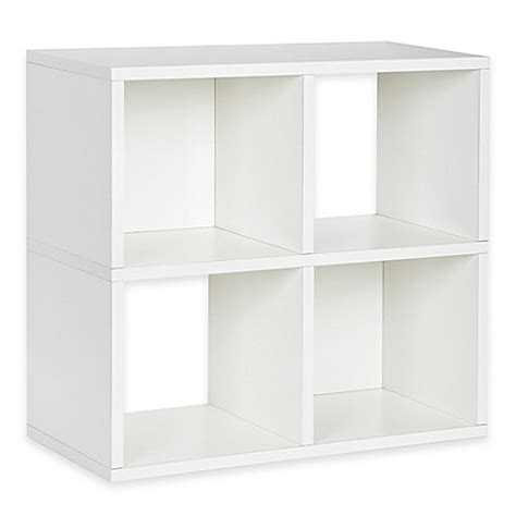Way Basics Tool Free Assembly 4 Cubby Quad Bookcase And White Cubby Bookcase