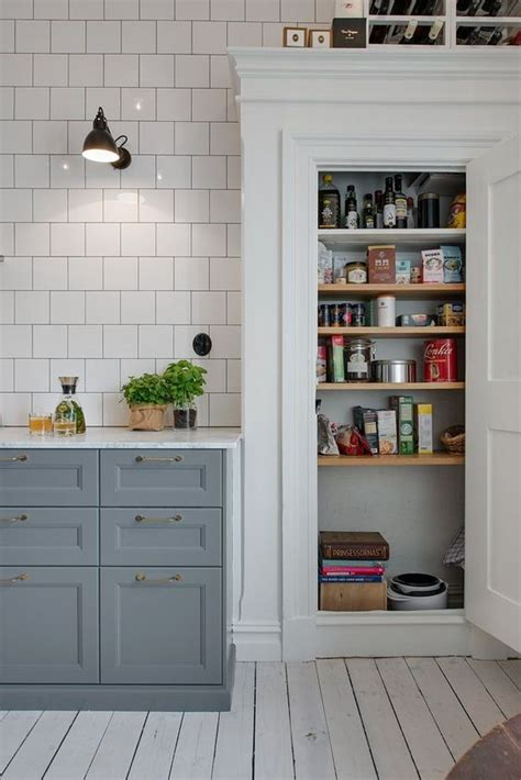 Grey Kitchen Pantry Kitchen Scandinavian Retro Pantry Kitchen
