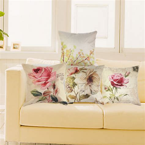Living Room Pillow Cases by Vintage Decorative Home Cotton Linen Pillow Cover Living Room Bed Chair Seat Waist Throw