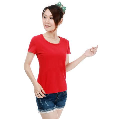 Kaos Cewe Perempuan kaos polos katun wanita o neck size m 86101 t shirt