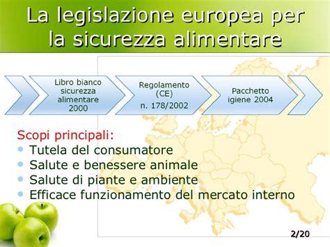 legislazione alimentare il piano regionale per la sicurezza alimentare alla luce