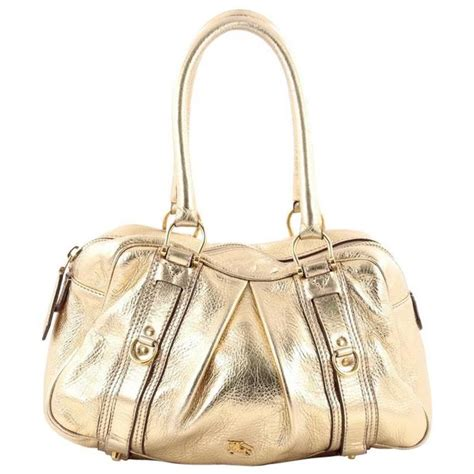 Burberry Ashbury Leather Purse by Burberry Ashbury Satchel Leather Small At 1stdibs