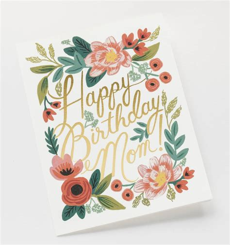 birthday card ideas for mom happy birthday mom greeting card by rifle paper co made
