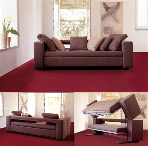 Sofa Into Bed by Innovative Multifunctional Sofa By Designer Giulio Manzoni