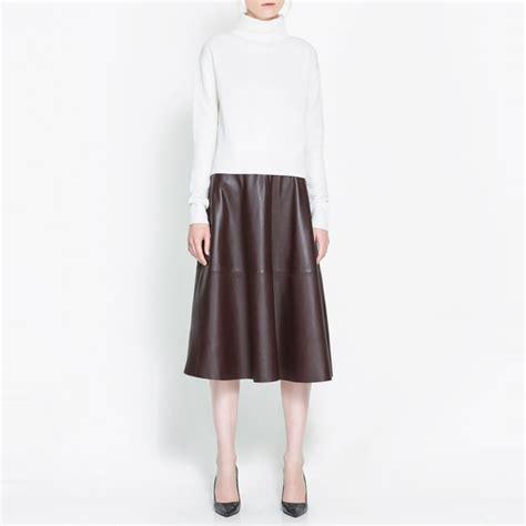 A7132 Blouse Premium Zara Crop midi skirt vezilka
