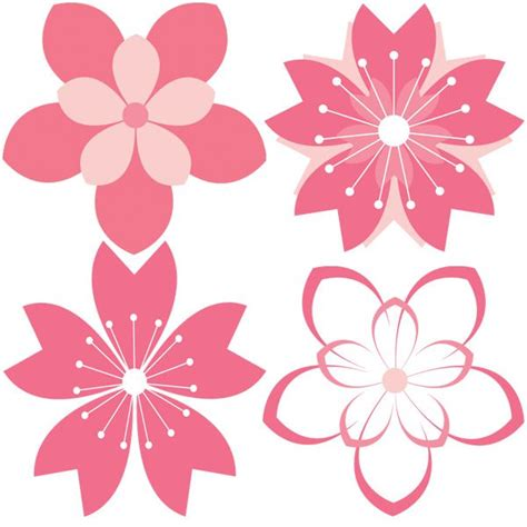 flower pattern drawing vector 11 cherry blossom vector patterns set http www